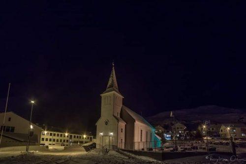 Honningsvåg kirke vinteren 2017/2018